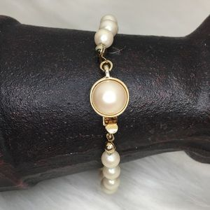 Vintage Carolee Faux Pearl Bracelet